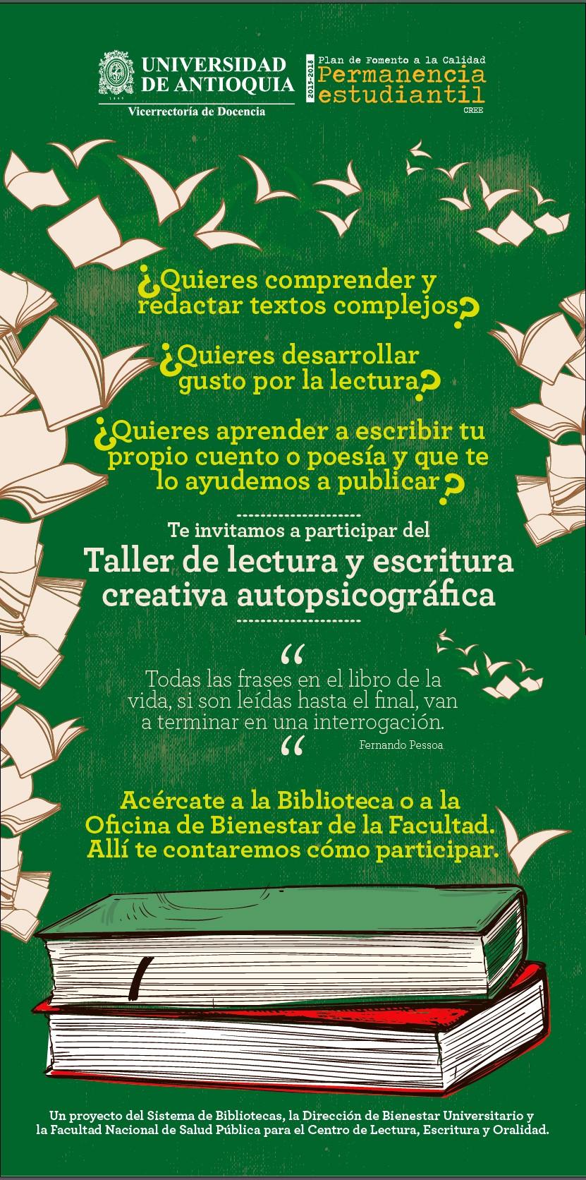 Taller De Lectura Y Escritura Creativa Autopsicográfica