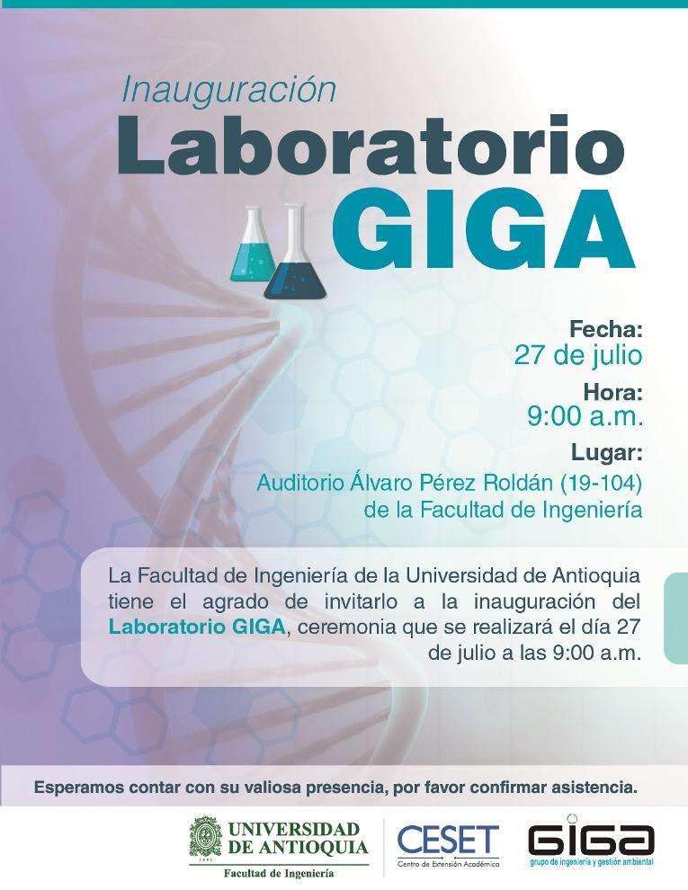 Invitación Inauguración Del Laboratorio Giga